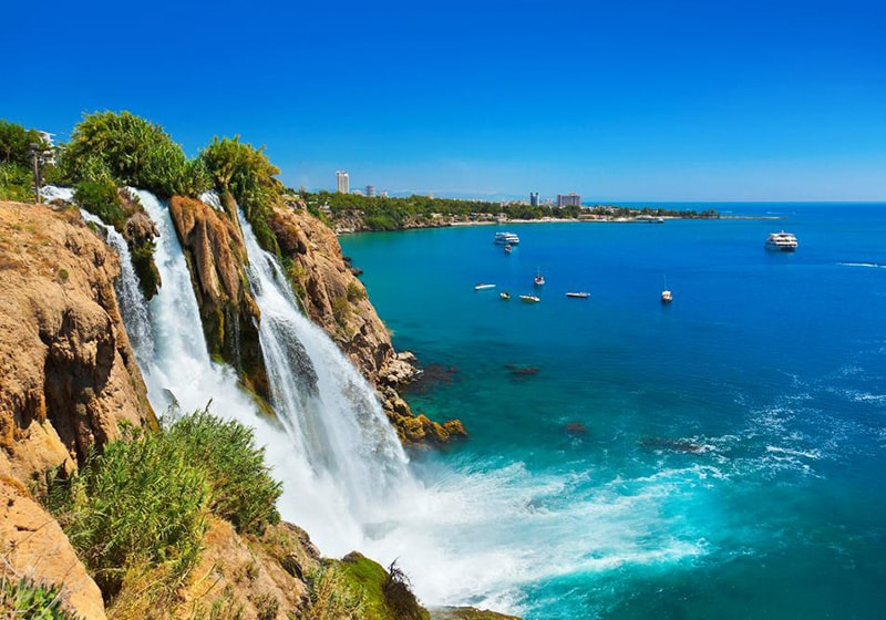 Düden waterfalls in Antalya