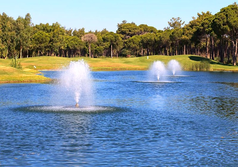 Belek golf course and lake