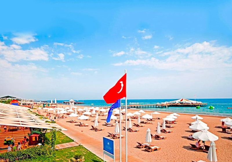 Belek beach with bar