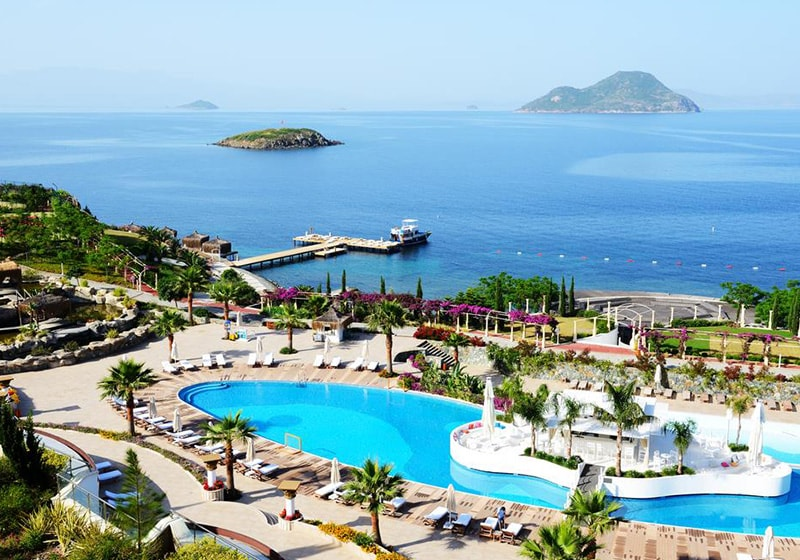 Beach club in Bodrum