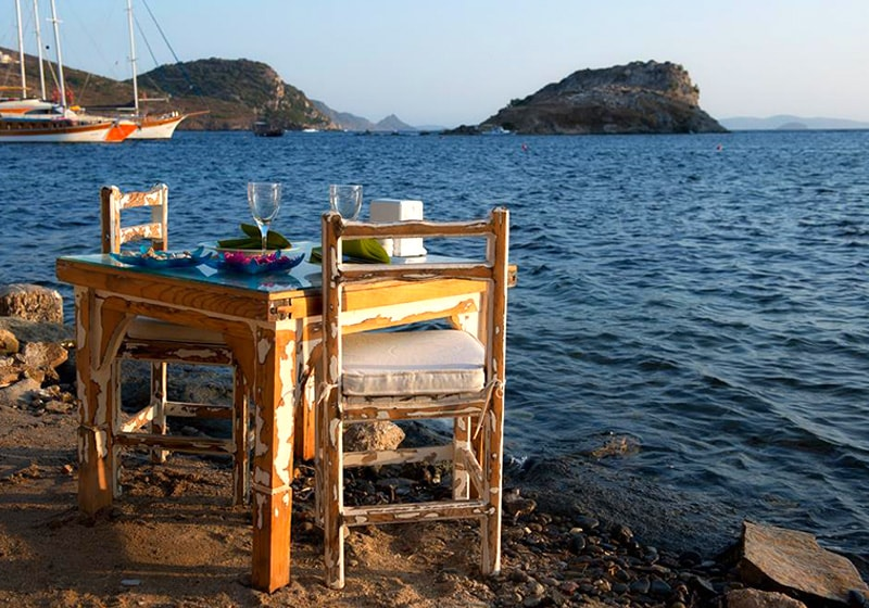 Bodrum Abendessen am Strand