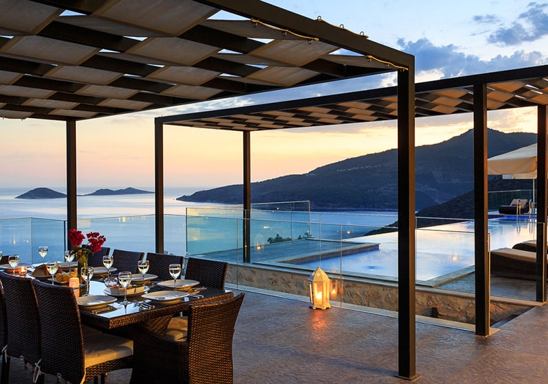 Dinner ina luxury villa in Kalkan with Amazing view