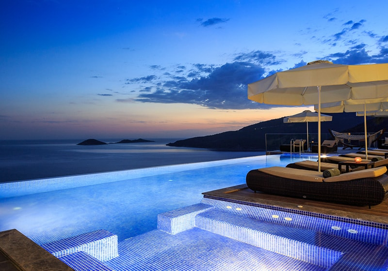 Relaxing time by the pool with best Kalkan view