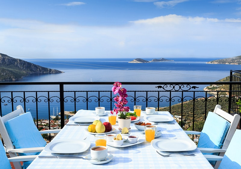 Breakfast in kalkan with a WOW View