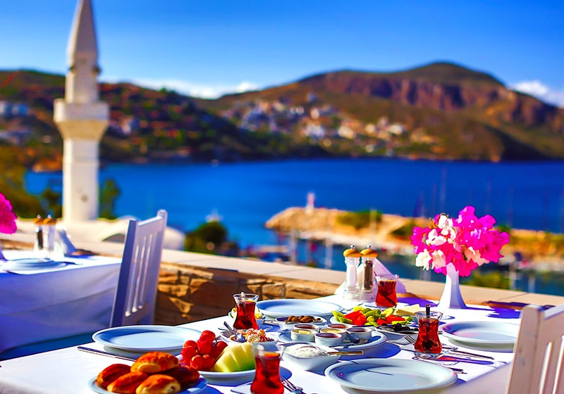 Breakfast in Kalkan under the sun