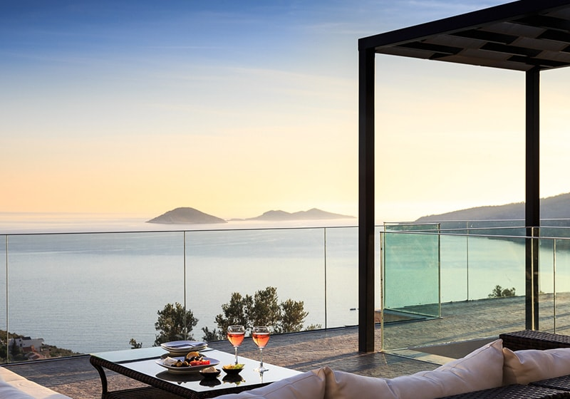 Kalkan Luxury villas offers panoramic views