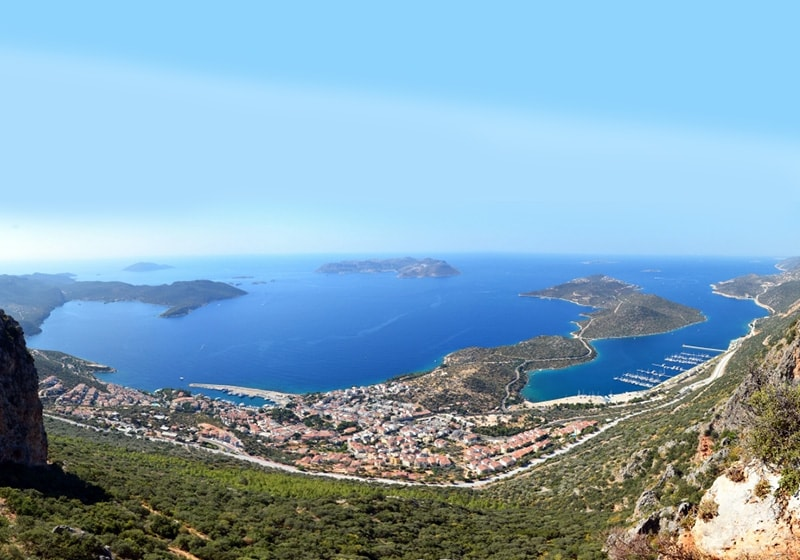 Kas city view from the highest hill