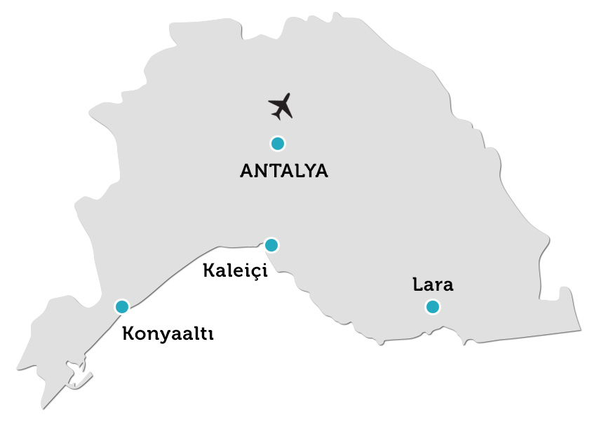Antalya Property Locations On Map