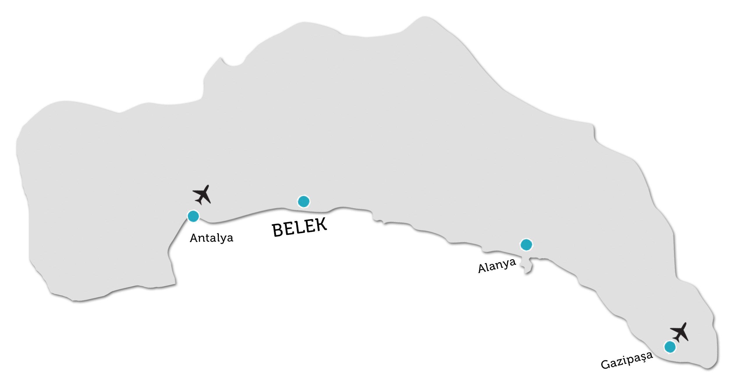 Belek Property Locations On Map