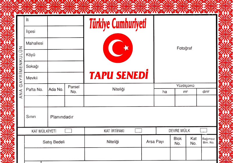 TAPU : The first Turkish word you need to learn when buying a property in Turkey