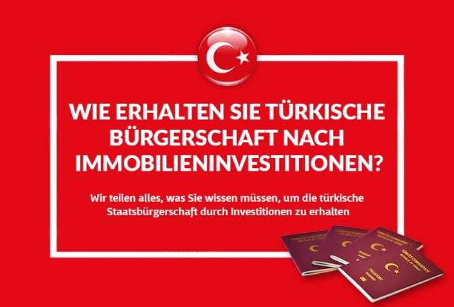 Wie man die türkische Staatsbürgerschaft durch Investition erhält (Alle Fragen beantwortet)