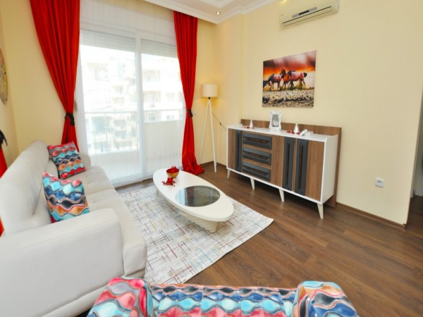 Very enjoyable 2 bedroom fully furnished apartment for sale in Alanya