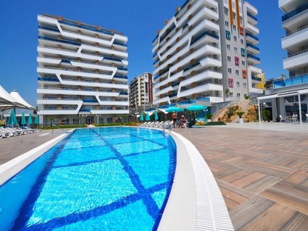Wohnungen in einem neuen Komplex in Avsallar zu verkaufen.