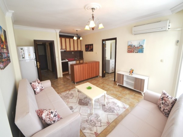Very affordable and fully furnished 1 bedroom apartment in Alanya