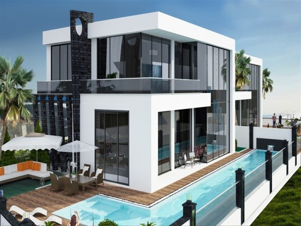 Beautiful private villa with 4 bedroom and large living surface in Alanya