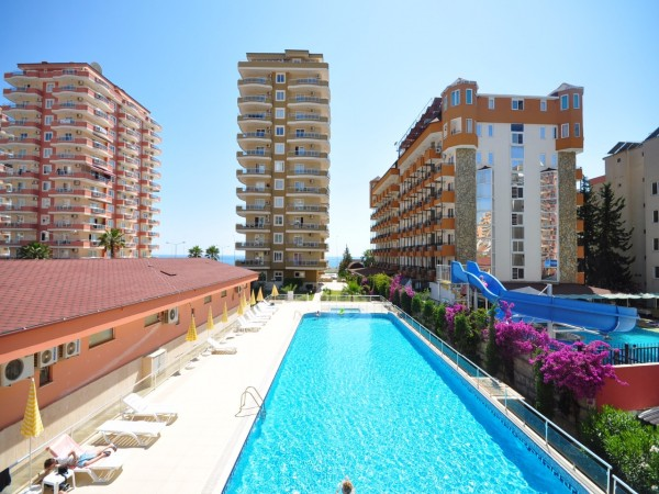 Luxury apartment in a beachfront holiday complex in Mahmutlar,Alanya