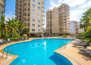 Large fully furnished 2 bedroom apartment for sale in Alanya
