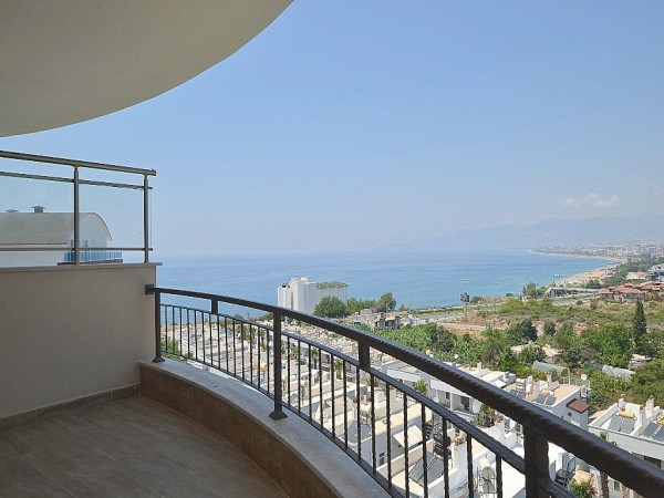 Amazing sea view 2 bedroom apartment for sale in Alanya
