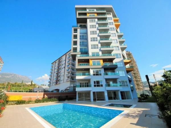 Komplett möblierte, bezugsfertige 2-Zimmerwohnung zum Verkauf in Alanya