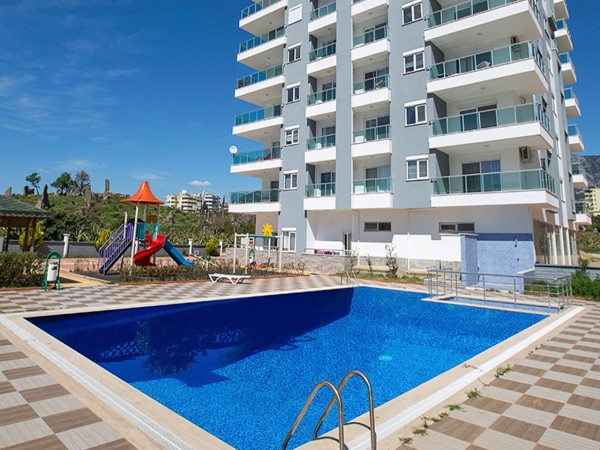 Elegant fully furnished 2 bedroom apartment for sale in Alanya