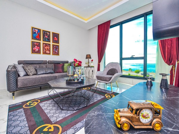 Luxury and fully furnished 2 bedroom apartment for sale in Alanya