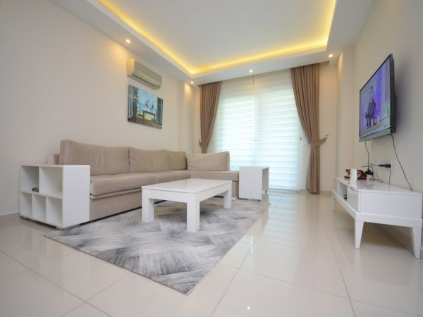 Stylish and fully furnished spacious 2 bedroom apartment for sale in Alanya