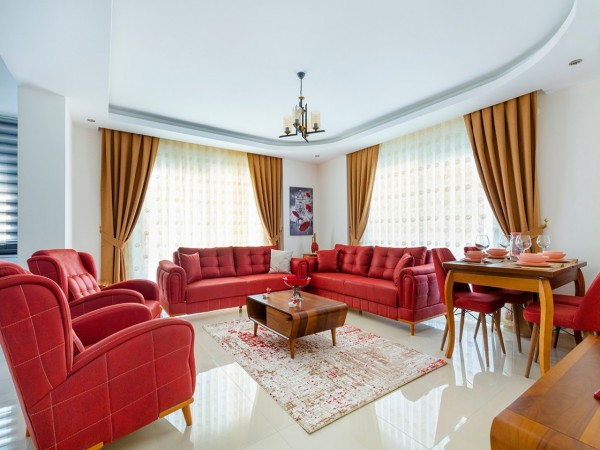 Marvelous fully furnished 2 bedroom apartment for sale in Alanya