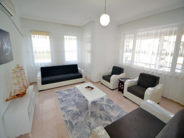 Fully furnished and very large 2 bedroom apartment for sale in Alanya