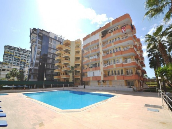 Fantastic fully furnished 2 bedroom apartment in beachfront complex in Alanya