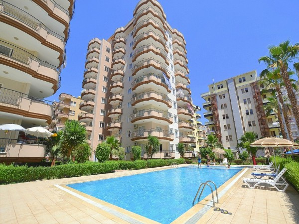 Spacious 2 bedroom apartment with nice views for sale in Alanya