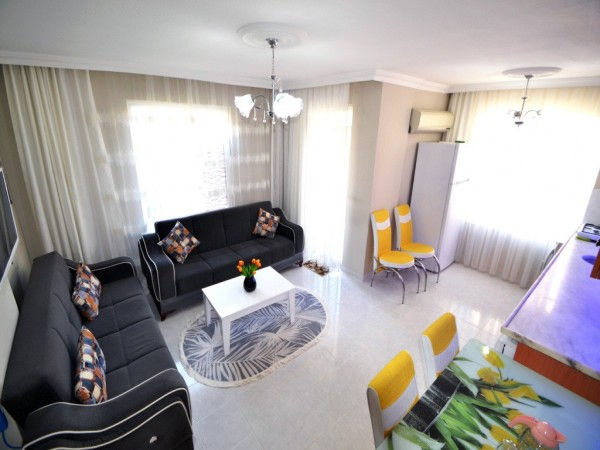 Ready to move nicely furnished 2 bedroom apartment in Alanya