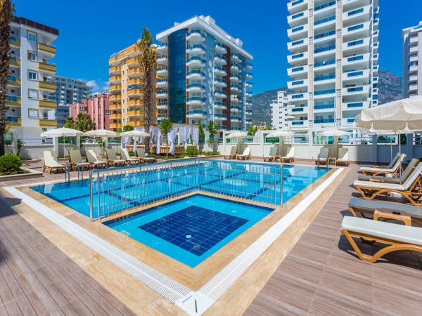 Stylish fully furnished 1 bedroom apartment for sale in Alanya