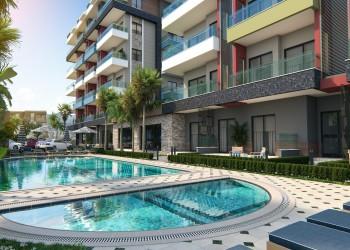 Neu fertiggestellte hochwertige Wohneinheiten zum Verkauf in Alanya