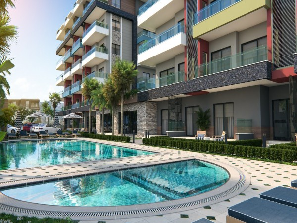 Newly completed high quality residential apartments for sale in Alanya
