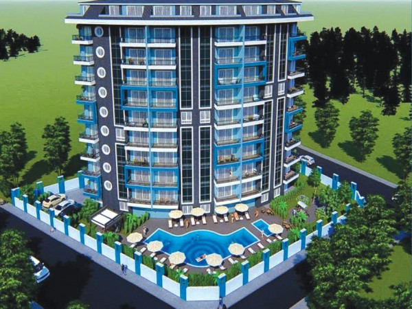 Fancy apartments in modern new complex in Alanya