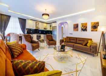 Very nicely furnished 3 bedroom apartment for sale in Alanya