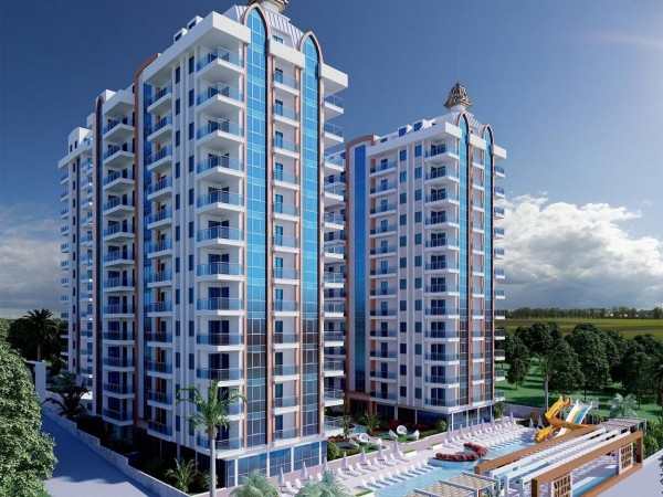 Impeccable 2 bedroom apartment in luxurious complex for sale in Alanya