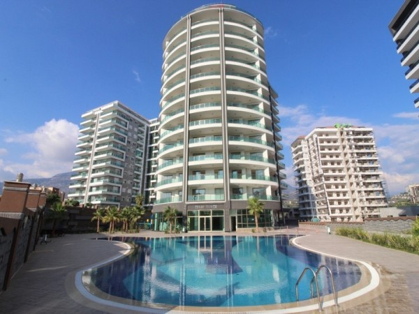 Large 1 bedroom apartment in exclusive new complex for sale in Alanya