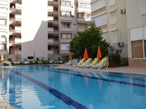 Beautiful beachfront 2 bedroom apartment with amazing sea views in Alanya