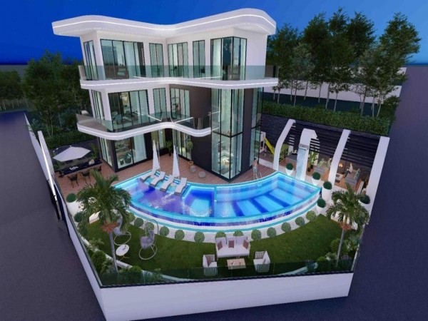 Luxury private villa with 6 bedrooms and full privacy for sale in Alanya