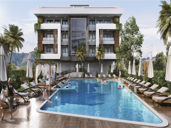 Luxurious new complex centrally located in Alanya