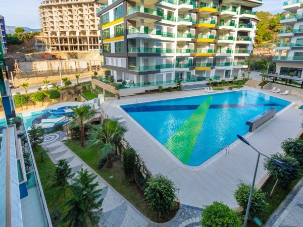 Stunning fully furnished 2 bedroom apartment for sale in Alanya