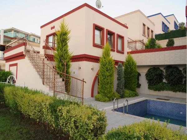 Stylish semi detached villa close to the beach for sale in Alanya