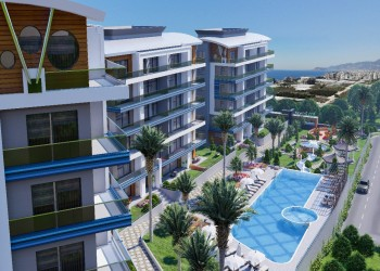 Beautiful new project with impeccable views for sale in Alanya