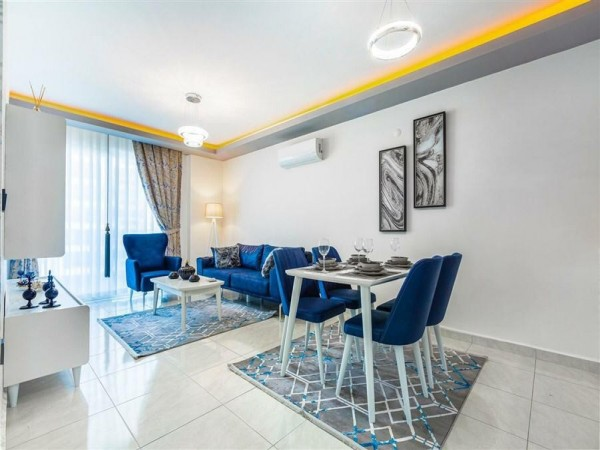 Furnished and ready to move 2 bedroom apartment for sale in Alanya