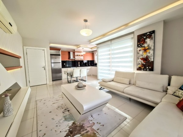 Very stylish fully furnished 2 bedroom apartment for sale in Alanya