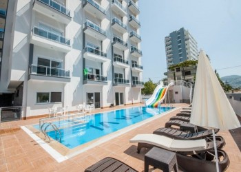 Stunning 1 bedroom apartment with large living surface for sale in Alanya