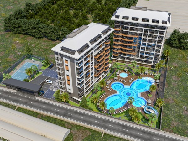 Affordable new project close to the beach for sale in Alanya