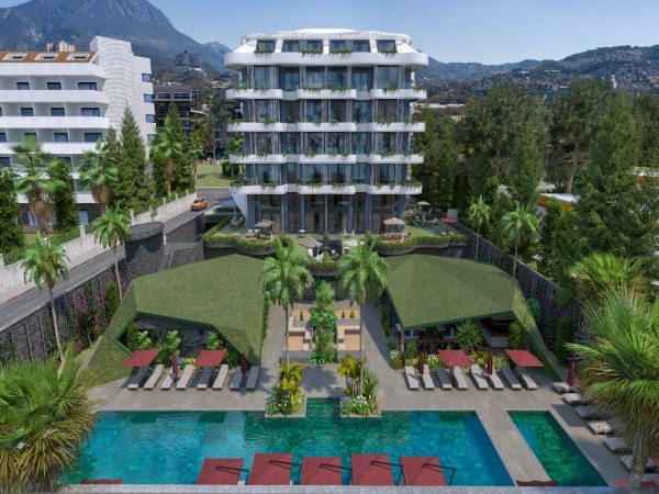 Exceptional beachfront project with many on site amenities in Alanya