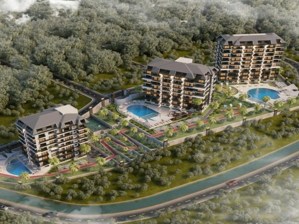 Dazzling 1 bedroom apartment in a new upcoming project in Alanya